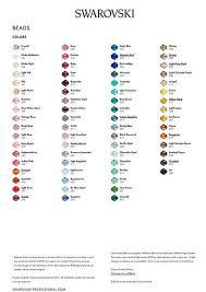Swarovski Ab Color Chart Swarovski Colour Charts Bluestreak Crystals Uk Swarovski