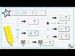 japanese verb te form chart learn japanese verb conjugation te form youtube