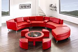 red sectional sofa for a comfortable look