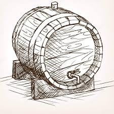 Image result for 10l oak barrel drawing