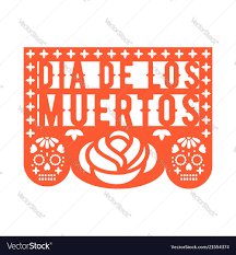 Papel Picado Designs For Day Of The Dead Papel Picado Mexican Paper Decorations For Party
