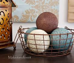 Decorate My Home, Part 13 - Hemp Ball Accents