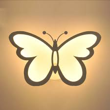 Solar Butterfly Wall Light Butterfly Shape Led Indoor Wall Light Super Bright Bedside