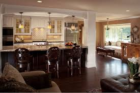 Small Open Kitchen Beautiful Open Concept Kitchen Living Room With Chandelier
