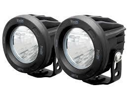 vision x lighting 3 optimus round series led spots in black