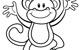 Monkey Coloring Pages Flying Monkey Coloring Page Printable Monkey