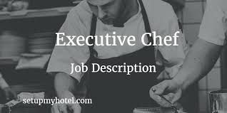 Catering Manager Job Description Classy 48 Duties And Responsibility For Executive Chef