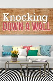 how to knock down a wall budget dumpster