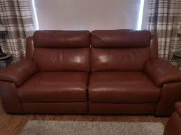 dfs crofton 3 piece leather suite for