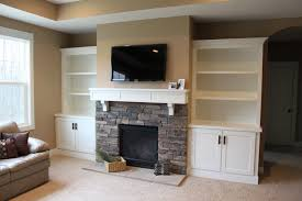 amusing fireplace built in cabinets ideas stone fireplace with built ins white shelves