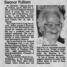 Obituary for Eleanor Purchase Pulliam, 1909-1990 (Aged 81 ...