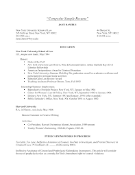 Law School Resume Sample Berathen Com