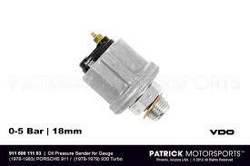 911 porsche electrical equipment parts by patrick motorsports sending unit for oil pressure gauge 911 sc 3 0l 78 79 930