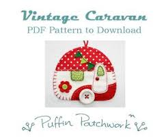Felt Christmas Ornament Patterns Delectable Vintage Caravan PDF Pattern Felt Trailer Ornament Pattern Caravan