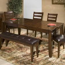 Intercon Kona Solid Mango Wood Dining Table With Butterfly Leaf - Solid wood dining room tables