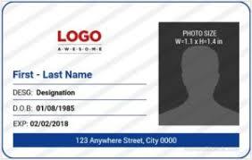 security guard badge template. Microsoft Word ID Card Templates