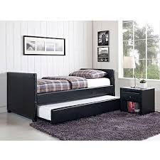 Stratus Twin Daybed and Trundle Black Faux Leather Walmart