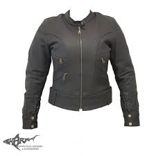 las leather lace up jacket