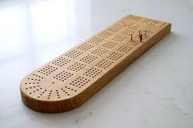 handmade wooden cribbage board