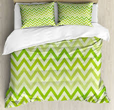 lime green duvet cover set with pillow
