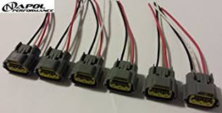 amazon com nissan skyline ignition coil connector plugs harness Rb26dett Wiring Harness nissan skyline ignition coil connector plugs harness wiring sr20 rb20 rb25 rb26 coil pack wiring rb26 wiring harness
