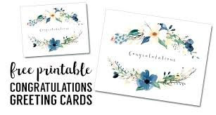 Congratulations Card Template Printable Free Greeting Cards Wedding