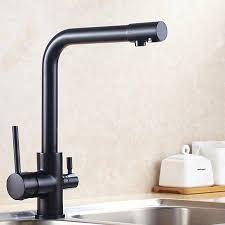 matte black faucet. Natural Brass Kitchen Faucet With Copper Chrome Matte Black And Tri Flow Sink