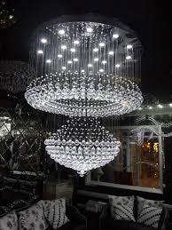 image of modern led crystal chandelier