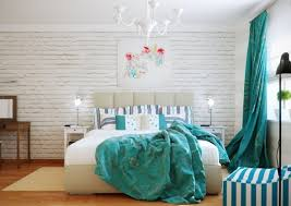 Brilliant Design Turquoise White Bedroom Scheme Propose Affluent Interest  Involve Color Circulation, Blending Design Involvement And Design Plan  Approaching ...
