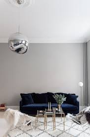 Interior Design For A Living Room 25 Stunning Living Rooms With Blue Velvet Sofas Grey Walls