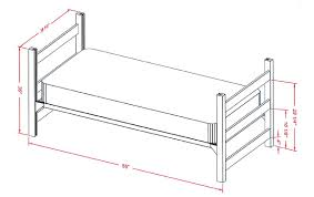 American Twin Bed Dimensions