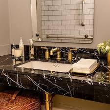 marble bathroom sink. Black Marble Vanity With Gold Faucet Bathroom Sink A