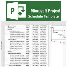 Professional Schedule Template Over 200 Microsoft Project Schedule Templates Articles
