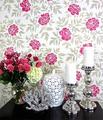 Small Picture Floral Wallpaper Hack Using The Japanese Peonies Stencil Stencil