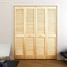 louver pine bifold door 1 38 thick with classic narrow slats fr 21 raw beauty jpg