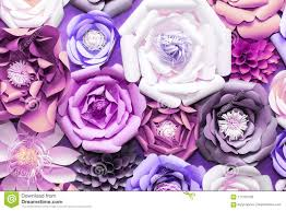 Paper Flower Background Colorful Paper Flowers On Wall Handmade Artificial Floral