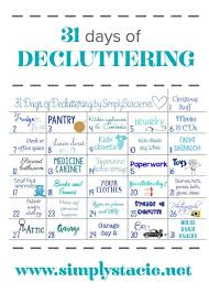 de clutter 31 days of decluttering simply stacie