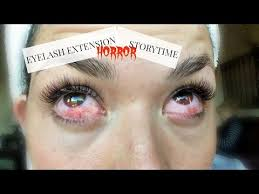eyelash extension horror story with
