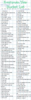 best high school bucket list ideas bucketlist  freshman year bucket list gotta make one of my own