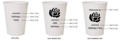 Paper Cup Size Chart Personalized Birthday Paper Cups