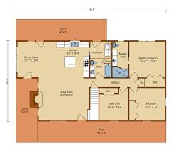 4 Bedroom 3 Bath Log Cabin House Plan  ALP06U9  Allplanscom4 Bedroom Log Cabin Floor Plans