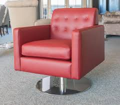 A swivel club chair is noted for its comfort and ability to pivot with a  simple twist of the body.