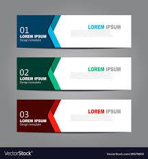 Design Horizontal Template Flyer Banner Royalty Free Vector
