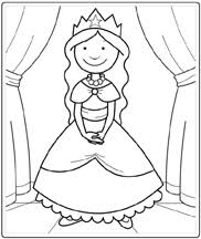 Simple Princess Coloring Pages