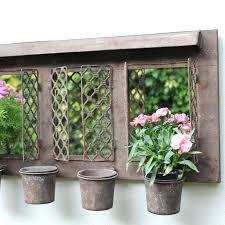 outdoor garden planters. Rustic Garden Planters Outdoor Mirror With Four Metal .