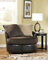 chocolate round swivel loveseat chair idea for living room small large round swivel loveseat