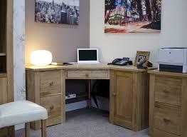 office corner. Kingston Solid Modern Oak Furniture Office Corner PC Computer Desk E