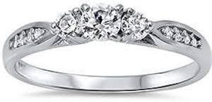 Oxford Diamond Co Cubic Zirconia Fashion Promise ... - Amazon.com