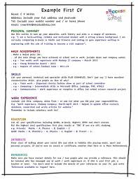 Examples Of Resumes With Little Work Experience Adorable Cv Template For First Job What Should I Put On My First CV