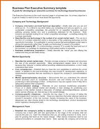 Business Plan Executive Summary Template Valid Business Plan ...